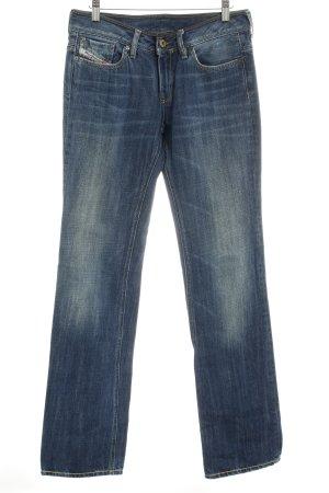 Diesel Industry Straight-Leg Jeans stahlblau Casual-Look