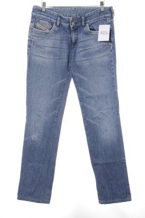Diesel Industry Straight-Leg Jeans stahlblau Jeans-Optik