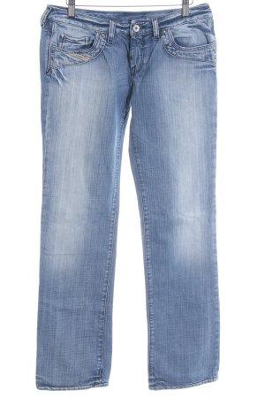 Diesel Industry Straight-Leg Jeans stahlblau-kornblumenblau Casual-Look