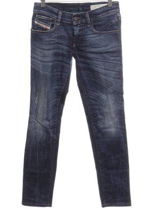 Diesel Industry Stretch Jeans dark blue washed look