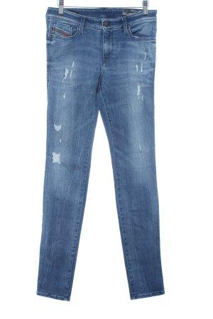 Diesel Industry Stretch Jeans stahlblau Farbverlauf Casual-Look