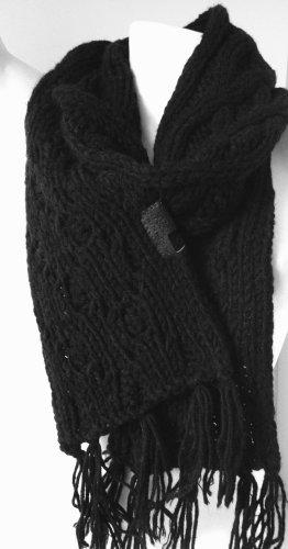 Diesel Industry Gebreide sjaal zwart Wol