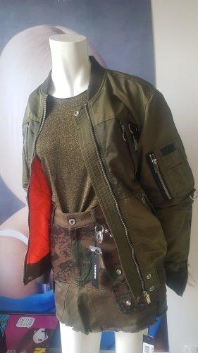 Diesel jacke olivgrün Etikette Luxus outfit