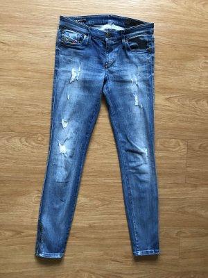 Diesel pantalón de cintura baja azul
