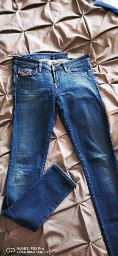 Diesel Jeansy z prostymi nogawkami stalowy niebieski