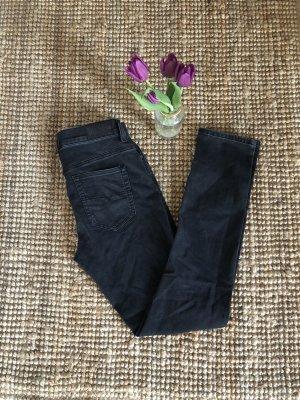 Diesel Jeansy z prostymi nogawkami antracyt-czarny