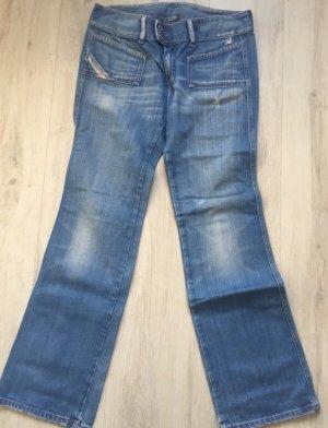 Diesel Jeansy z prostymi nogawkami błękitny-stalowy niebieski