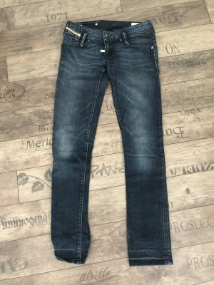 Diesel Low Rise Jeans dark blue