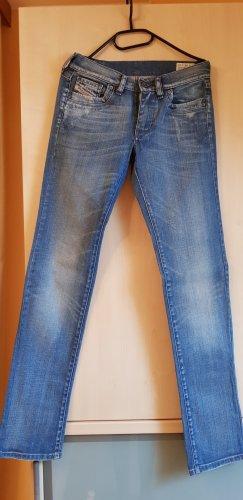 Diesel Jeansy z prostymi nogawkami jasnoniebieski-błękitny