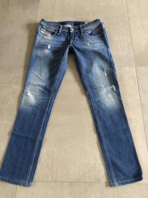 Diesel Industry Jeans vita bassa blu acciaio-azzurro