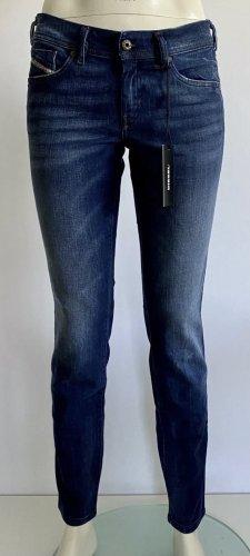 Diesel Jeans Francy Gr. 27/32 blau Logo