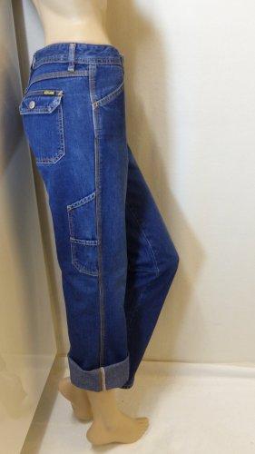 Diesel Jeansy typu boyfriend niebieski Bawełna