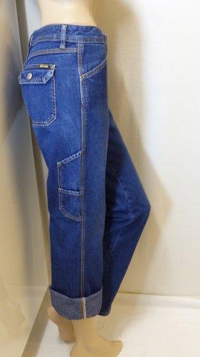 Diesel Jeans boyfriend bleu coton