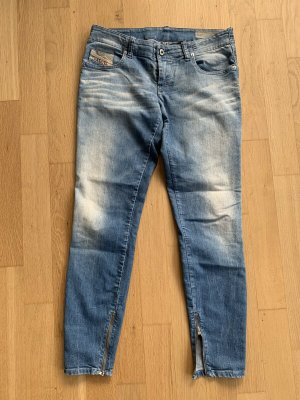 Diesel 7/8-jeans staalblauw Katoen