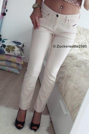 Diesel Pantalone a vita bassa rosa chiaro