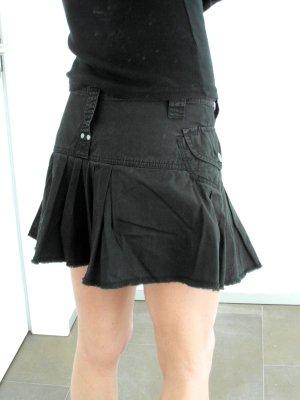 Diesel Falda a cuadros negro