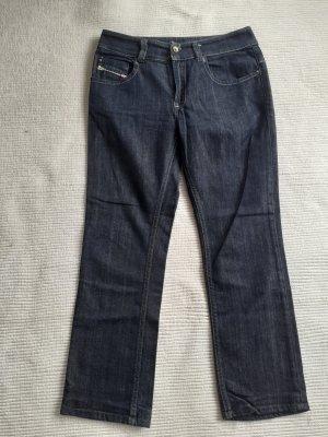 Diesel Jeansy z prostymi nogawkami ciemnoniebieski