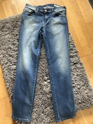 Diesel Jeansy 7/8 niebieski Bawełna