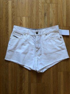 Diesel Jeans Shorts Weiß Gr. 27