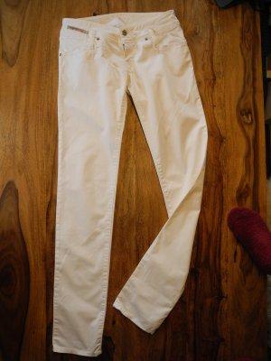 Diesel Pantalone jersey bianco Cotone
