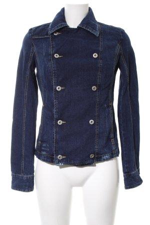 Diesel Blazer in jeans blu stile casual