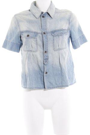 Diesel Jeansbluse blassblau-graublau Jeans-Optik