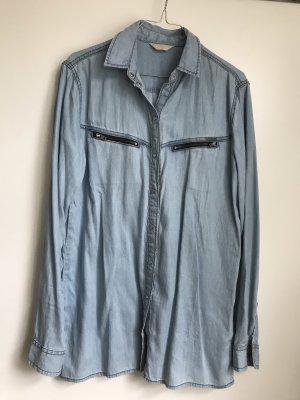Diesel Jeansowa koszula błękitny