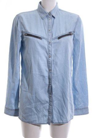Diesel Jeanshemd blau Casual-Look