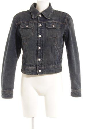 Diesel Jeansjacke dunkelblau Jeans-Optik