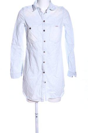 Diesel Vestido vaquero blanco estampado a rayas look casual