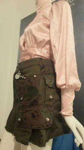Diesel jeansrock Camouflage neu satin bluse nude rose small