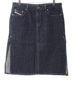 Diesel Jeansrock dunkelblau meliert Vintage-Look