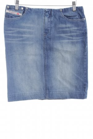Diesel Jeansrock graublau-blassblau Jeans-Optik