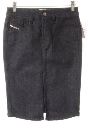 Diesel Jeansrock schwarz Jeans-Optik