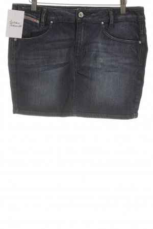 Diesel Jeansrock stahlblau Jeans-Optik