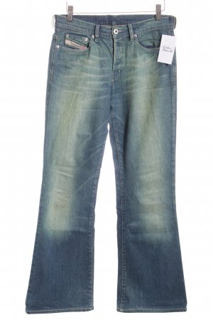 Diesel Jeansschlaghose dunkelblau Washed-Optik