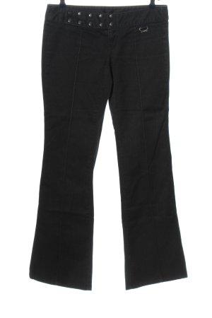 Diesel Jeansschlaghose schwarz Casual-Look
