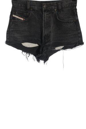 Diesel Pantalón corto de tela vaquera negro look casual