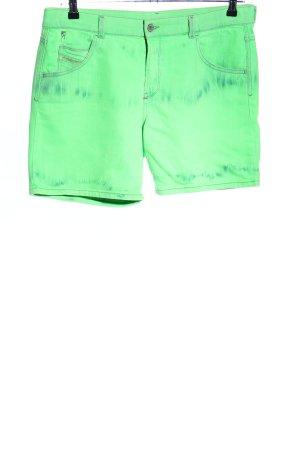 Diesel Pantaloncino di jeans verde stile casual
