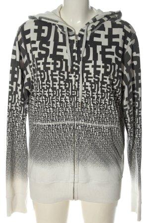 Diesel Kapuzensweatshirt weiß-hellgrau Schriftzug gedruckt sportlicher Stil