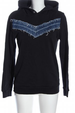 Diesel Sweatshirt met capuchon zwart-blauw casual uitstraling