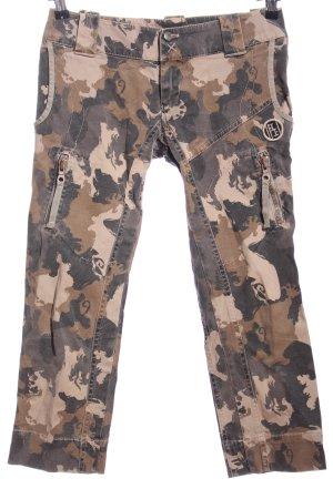 Diesel Kaki broek camouflageprint casual uitstraling
