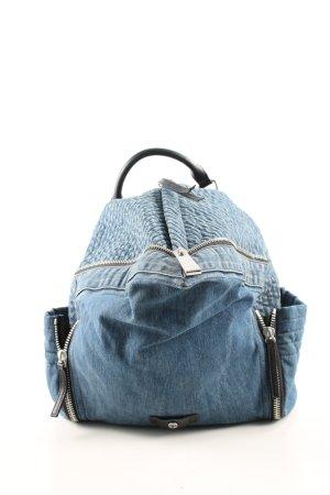 Diesel Kindergartenrucksack blau Casual-Look
