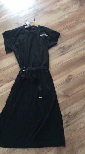 Diesel Vestido estilo camisa negro-blanco