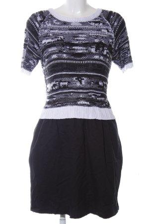 Diesel Kurzarmkleid schwarz-weiß Casual-Look