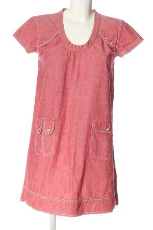 Diesel Robe à manches courtes rose moucheté style décontracté