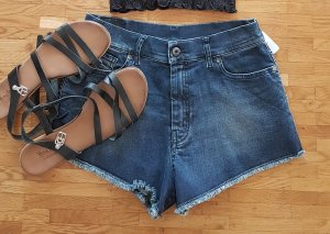 "DIESEL KURZE JEANS Hose ""SHORIS"" hot pants high waist ibiza boho hippie biker"