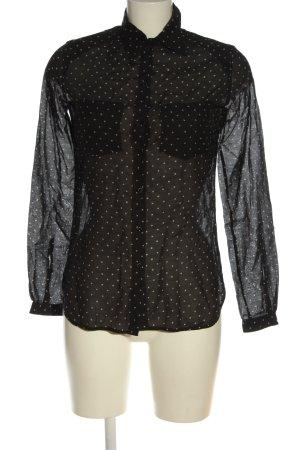 Diesel Langarmhemd schwarz-wollweiß Punktemuster Casual-Look