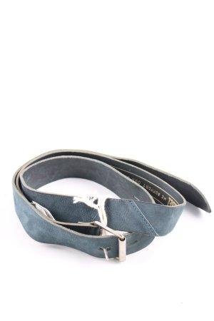 Diesel Ledergürtel blau Business-Look