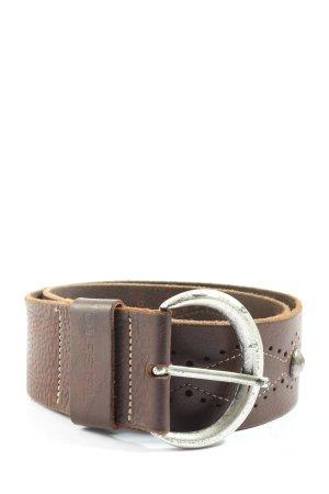 Diesel Cintura di pelle marrone stile professionale